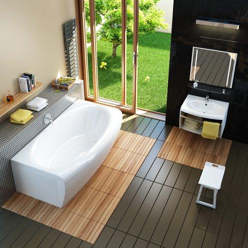 Интерьер ванной: практика выбора доминантных элементов