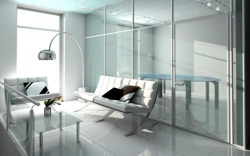 Офисные перегородки в интерьерах квартиры